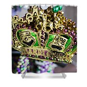 Mardi Gras Beads Shower Curtain