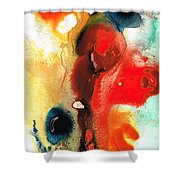 Mardi Gras - Colorful Abstract Art By Sharon Cummings Shower Curtain