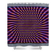Mardi Gras Flag Shower Curtain