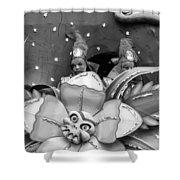 Mardi Gras Float Monochrome Shower Curtain
