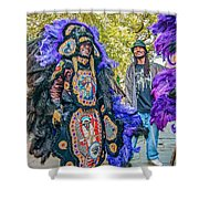 Mardi Gras Indian Shower Curtain