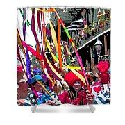 Mardi Gras Marching Parade Shower Curtain