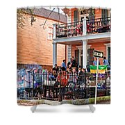 Mardi Gras Party On St Charles Ave New Orleans Shower Curtain