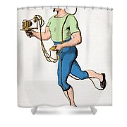 Mareys Apparatus To Register Paces, 1874 Shower Curtain by Getty Research Institute