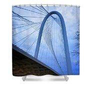 Margaret Hunt Hill Bridge Dawn Shower Curtain