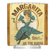 Margarita Salt On The Rocks Shower Curtain
