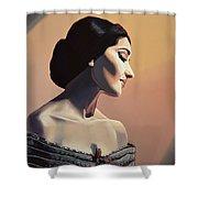 Maria Callas Painting Shower Curtain