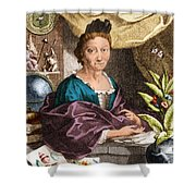 Maria Merian  Shower Curtain by Science Source