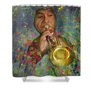 Mariachi Trumpet Player Shower Curtain