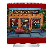 Maria's New Mexican Restaurant Shower Curtain by Victoria De Almeida