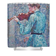 Marie Anne Weber Playing The Violin  Shower Curtain
