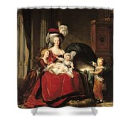 Marie Antoinette And Her Children Shower Curtain by Elisabeth Louise Vigee-Lebrun