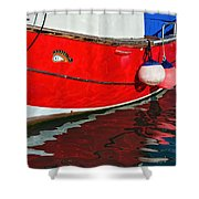 Marie F At The Harbour Shower Curtain