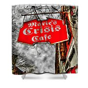 Marie's Crisis Cafe Shower Curtain