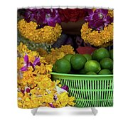 Marigolds And Limes Shower Curtain