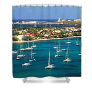 Marigot Harbor St. Martin Shower Curtain