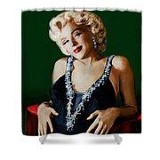 Marilyn 126 Green Shower Curtain