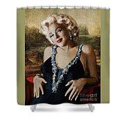 Marilyn 126 Mona Lisa Shower Curtain