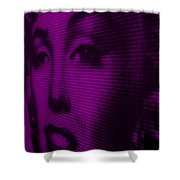 Marilyn And Mona Purple Shower Curtain