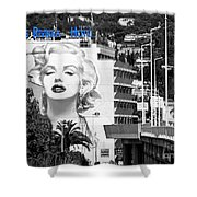 Marilyn In Cannes Shower Curtain