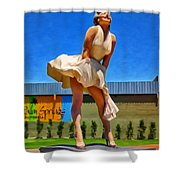 Marilyn In Palm Springs Shower Curtain