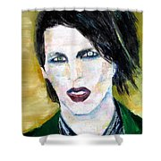Marilyn Manson Oil Portrait Shower Curtain