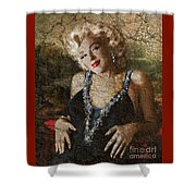 Marilyn 39 mona lisa 39 1 a painting by theo danella for Mona lisa shower curtain