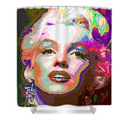 Marilyn Monroe 01 - Abstarct Shower Curtain