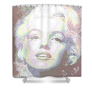 Marilyn Monroe 01 - Parallel Hatching Shower Curtain