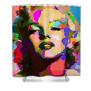 Marilyn Monroe - Abstract Shower Curtain