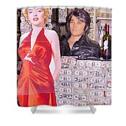 Marilyn Monroe And Elvis Shower Curtain