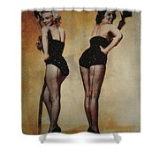 Marilyn Monroe And Jane Russell Shower Curtain