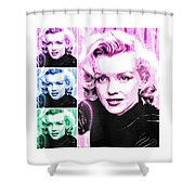Marilyn Monroe Art Collage Shower Curtain