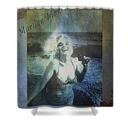 Marilyn Monroe At The Beach Shower Curtain