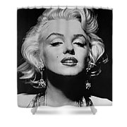 Marilyn Monroe Black And White Shower Curtain by Georgia Fowler