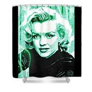 Marilyn Monroe - Green Shower Curtain