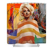 Marilyn Monroe Hollywood Starlet Shower Curtain