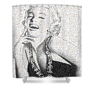 Marilyn Monroe In Mosaic Shower Curtain