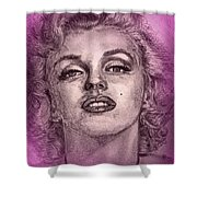 Marilyn Monroe In Pink Shower Curtain