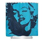 Marilyn Monroe Loves Batman Shower Curtain