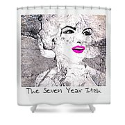 Marilyn Monroe Movie Poster Shower Curtain