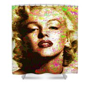 Marilyn Monroe Name Characters Shower Curtain