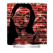 Marilyn Monroe On The Wall Shower Curtain