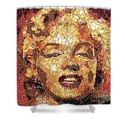 Marilyn Monroe On The Way Of Arcimboldo Shower Curtain
