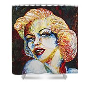 Marilyn Monroe Original Palette Knife Painting Shower Curtain