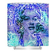 Marilyn Monroe Out Of The Blue Shower Curtain