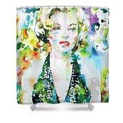 Marilyn Monroe Portrait.1 Shower Curtain