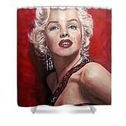 Marilyn Monroe - Red Shower Curtain