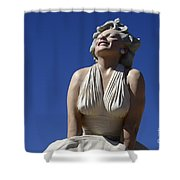 Marilyn Monroe Statue 2 Shower Curtain