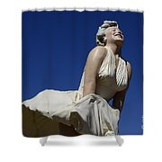 Marilyn Monroe Statue 3 Shower Curtain